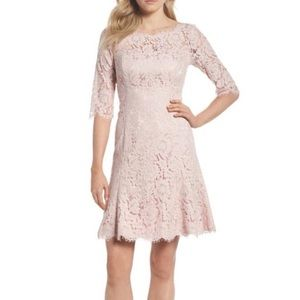 $158 Eliza J Blush Fit and Flare Lace Cocktail Dre